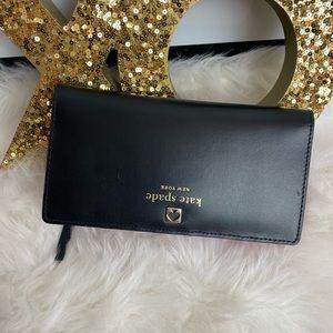 Kate Spade | black & hot pink wallet